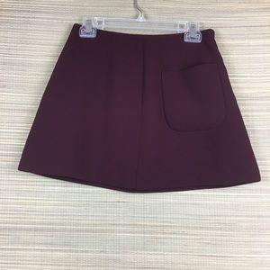 Aritzia Skirts - ARITZIA Wilfred Essonne Burgundy Mini Skirt